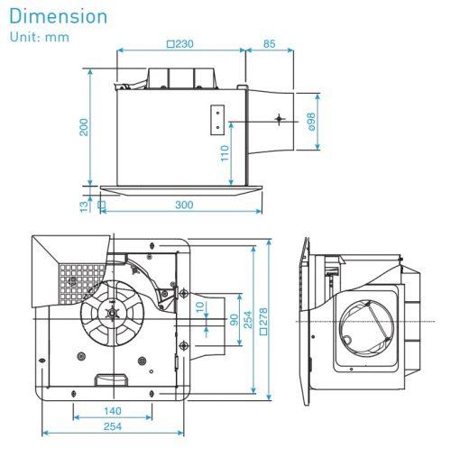 bản-vẽ-kỹ-thuật-quạt-hút-âm-trần-FV-24CU8-FV-24CD8-FV-24CH8
